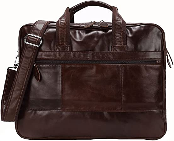Men/'s real Leather Large Luggage Duffle Travel Gym Bag Shoulder Bag Laptop bag