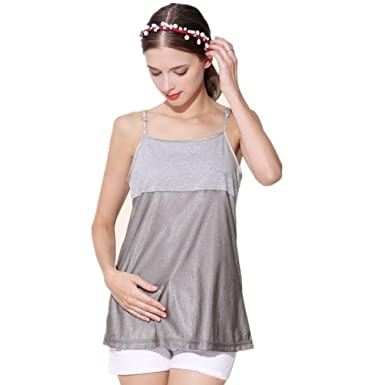 16866b9897474 Image Unavailable. Image not available for. Color: HNSHWH Anti-Radiation  Maternity Dress Radiation Protection Clothing Baby Protective Shield ...