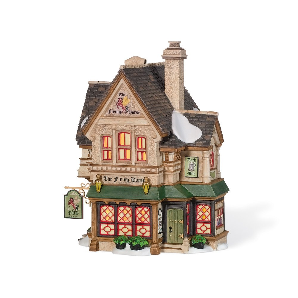 Department 56 Dickens' Village Flying Horse Tavern Miniature Lit Building 805518 GE734409513754