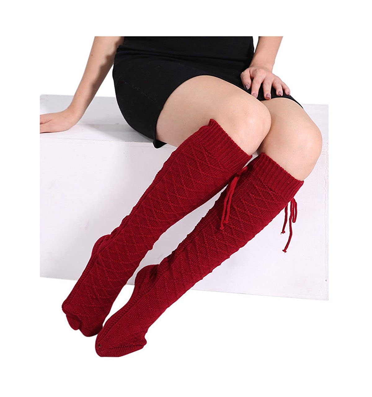 Women Winter Leg Warmer Cable Knit Crochet Long Socks Leggings other