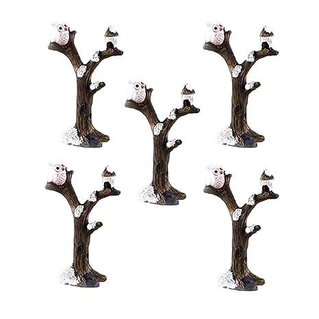 P Prettyia Figuras de Búhos en Miniatura Modelo Animal Molde ...