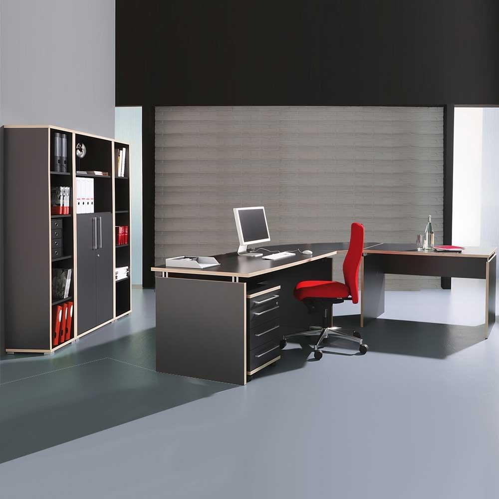 Büromöbel Set anthrazit rosales Mongo Pharao24 günstig online kaufen