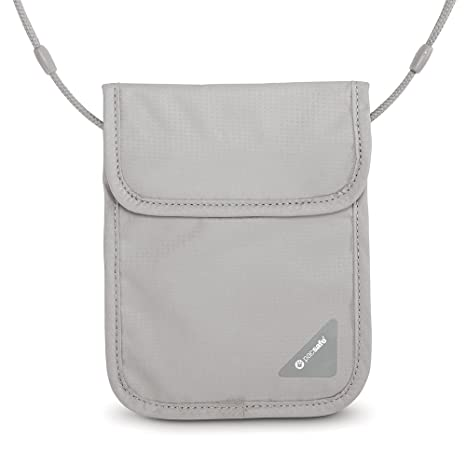 1a27b6fcc PacSafe Coversafe X75 Anti-Theft RFID Blocking Neck Pouch, Neutral Grey:  Amazon.ca: Luggage & Bags