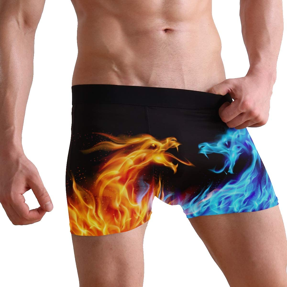 Anyako Boxer Brief Cute Wallpaper and Screensavers Personalized Underwear Comfort Breathable Hipster for Men Boys