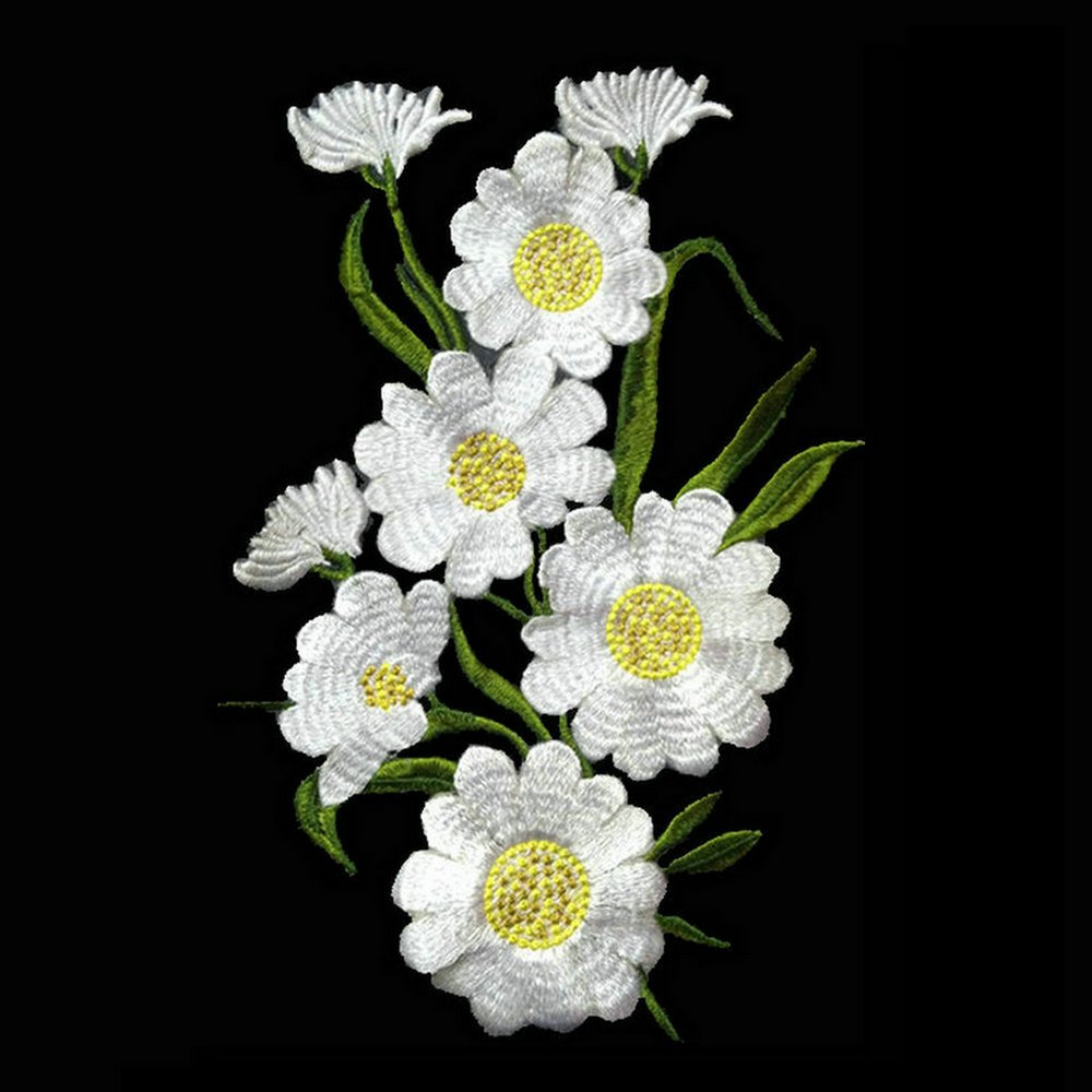 Amazon 1pcs Large Daisy Flower Applique Sew On Patches
