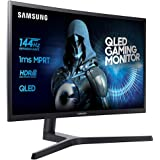 Samsung C27HG70 Monitor per PC Desktop Curvo VA da Gaming 27'' WQHD, 2560 x 1440, HDR, 144Hz, 1ms, 1 Display Port, 2 HDMI, Nero
