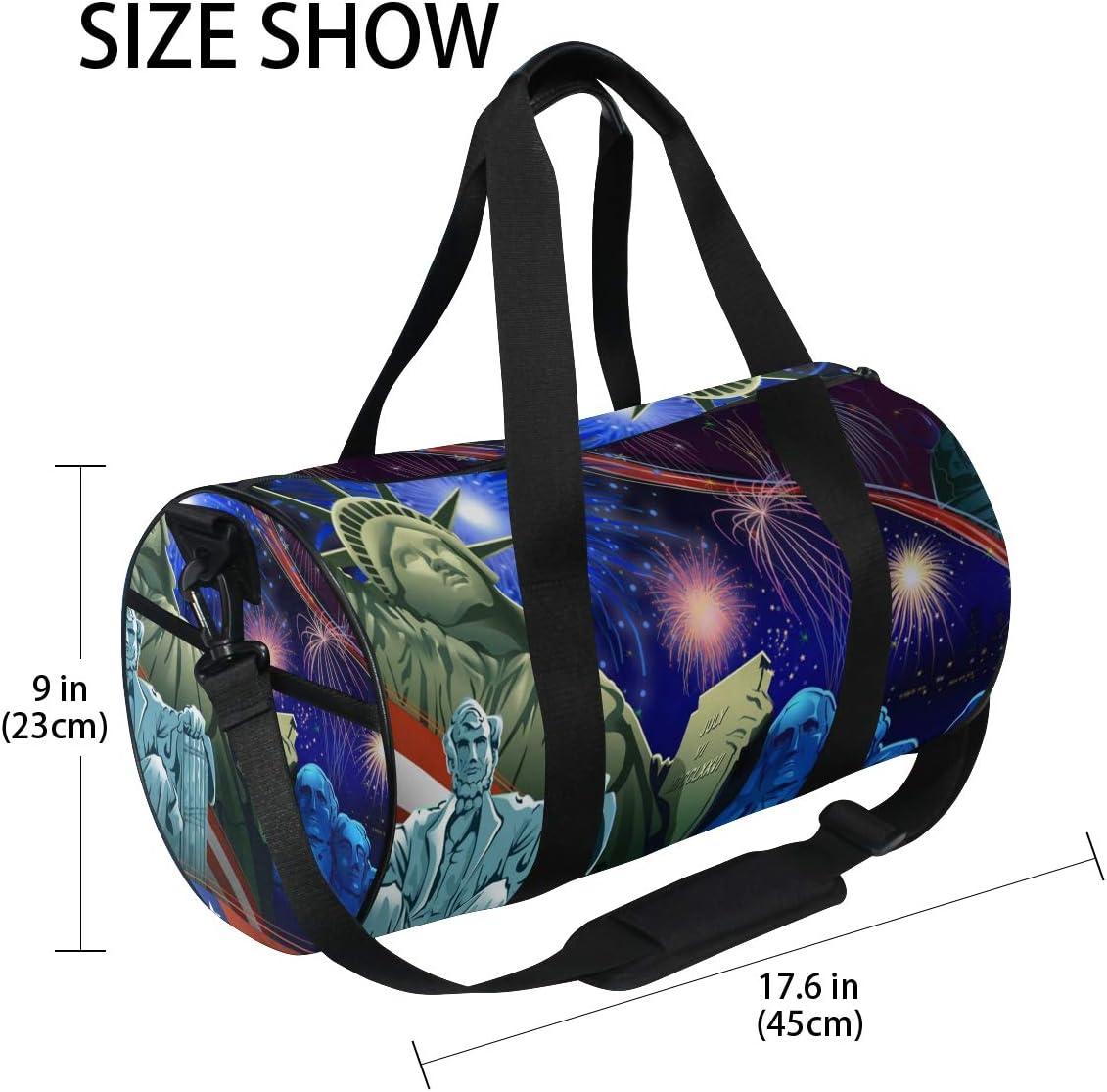 OuLian Gym Bag Live Music Women Canvas Duffel Bag Cute Sports Bag for Girls