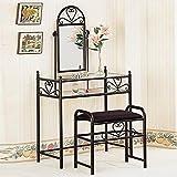 Coaster Vanity Table Set in Black (Misc.)