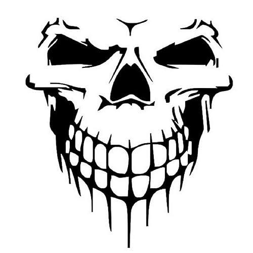 Amazon Com Naladoo Vinyl Skull Skeleton Body Decal Reflective Car