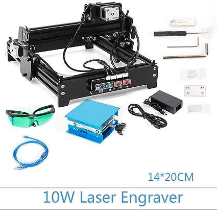 Amazon.com: Grabador láser de 10 W, máquina de grabado CNC ...