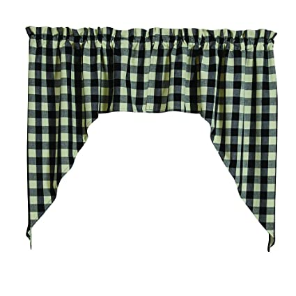 Park Designs Checkerboard Star Lined Swag 72X36