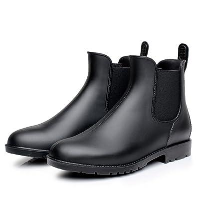 060e433046817a Rainy Show Women s Tinsley Rain Boots Chelsea with Elastic Slip On Ankel  Black