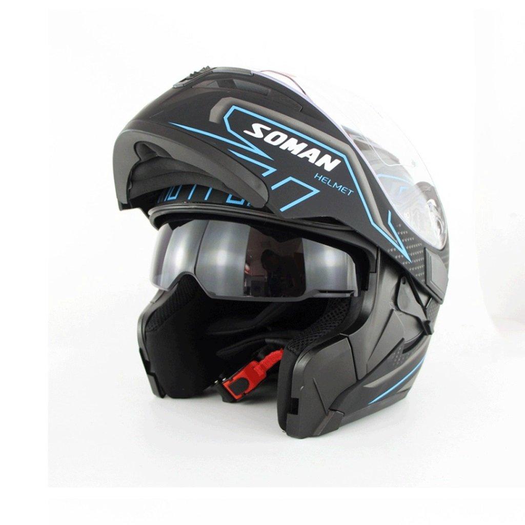 DGF ヘルメットハイグレードオートバイの男性と女性ハイビジョンアンチフォグダブルレンズオープンフェイスヘルメット四季オフロードヘルメットヘルメット (色 : E, サイズ さいず : XXL) B07FKMZ8WM XX-Large|E E XX-Large