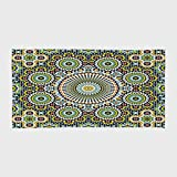 One Side Printing Hotel SPA Beach Pool Bath Hand Towel,Arabesque Ethnic Moroccan Middle Eastern Oriental Traditional Vintage Islamic Mosaic Motif Multicolor,for Kids Teens and Adults