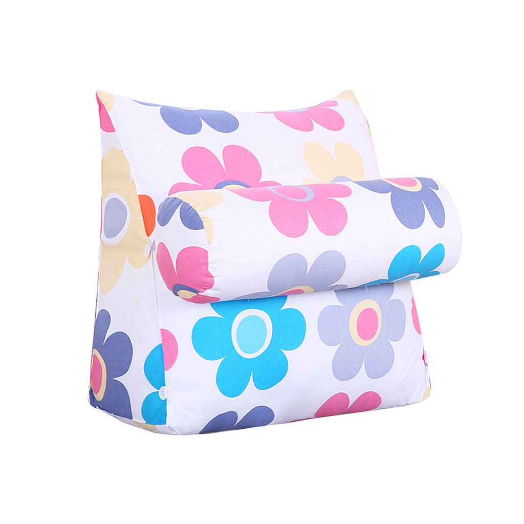 Triangle Sofa Bed Headrest Bedside Pillow With Headrest Bay Window Cushion Back Office Pillow Lumbar Pillow Backrest Waist Pads (Color : A, Size : 45cm22cm40cm)
