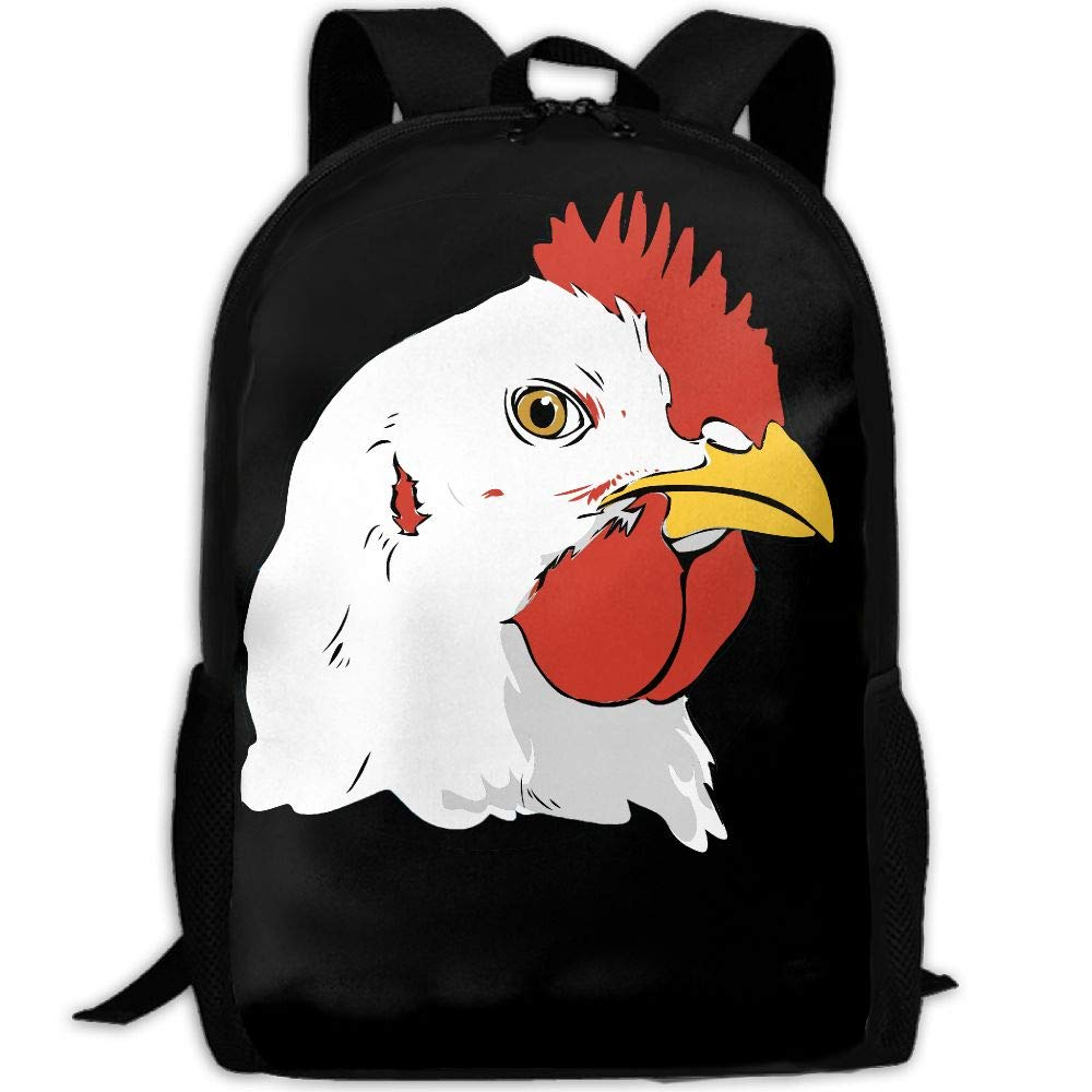 OIlXKV Chicken Clipart Face Print Custom Casual School Bag Backpack Multipurpose Travel Daypack For Adult