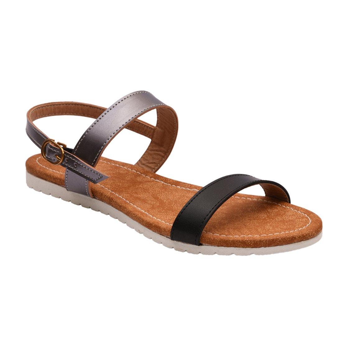 1f796170267f3 meriggiare Ladies Casual Flat Slingback Strap Sandals for Women