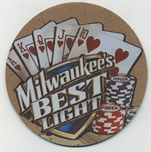 Milwaukee's Best Light Beer - Royal Flush Poker - Coaster Set of 4 -