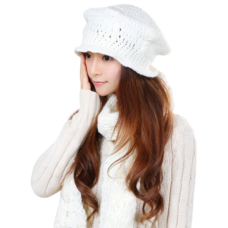 Korean-style ladies hats/scarf suit/Warm scarf/Hat two-piece suit
