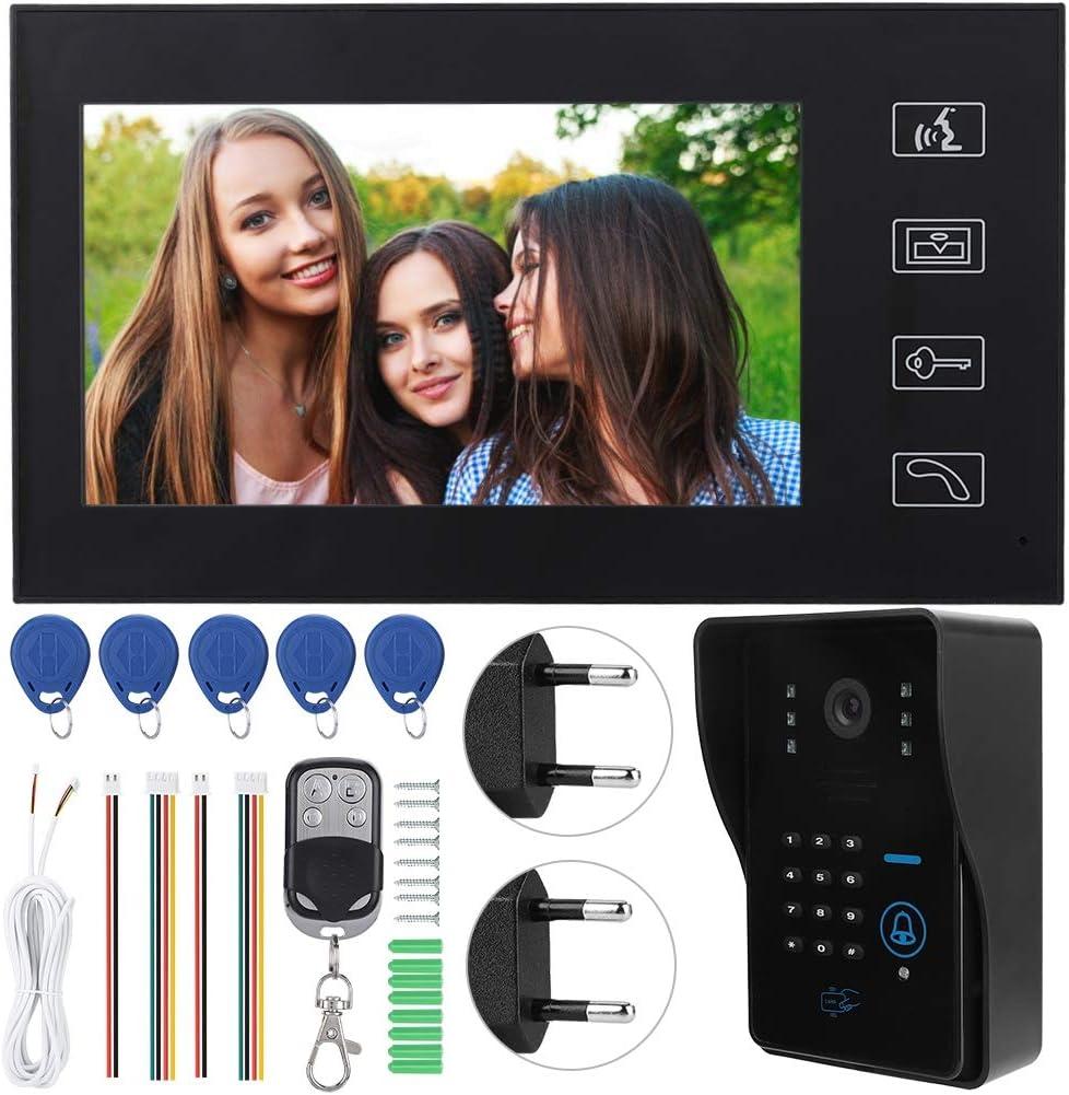 kit de Sonnette de contr/ôle dacc/ès Filaire /étanche avec Moniteur LCD, 7 Pouces Interphone vid/éo Europe syst/ème dinterphone vid/éo /étanche syst/ème dinterphone vid/éo Intelligent