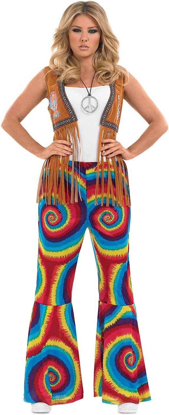 Ladiers Tye Dye Flated Trousers, S to XXL