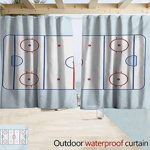 AndyTours - Cortina de Puerta corredera, diseño de Portero de Hockey en Estilo Dibujado a Mano con