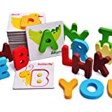 Grsafety Children Educational Puzzle Toy Baby Preschool ABC Alphabet Cards Cognitive Toys Animal Puzzle Toys