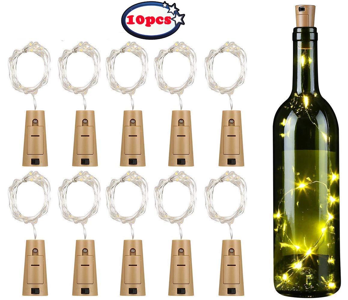 10x 20 Led 2m Flaschen Licht Flaschenlichter Lichterketten Nacht