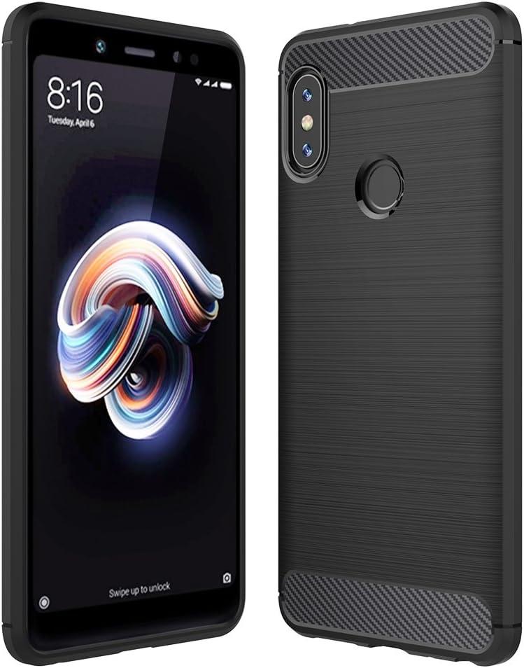 Xiaomi 6X/Redmi note 5 Pro Custodia Nero, Anjoo Cover Xiaomi 6X/Redmi note 5 Pro Protettiva Case Custodia in Silicone Anti-Graffio