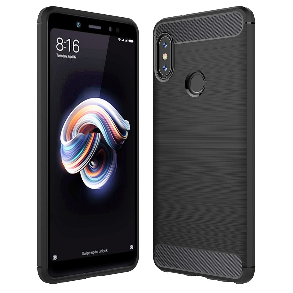Xiaomi 6X / Redmi Note 5 Pro Case Black, Anjoo Cover Xiaomi 6X / Redmi note 5 Pro beschermhoes Silicone case Anti-Scratch