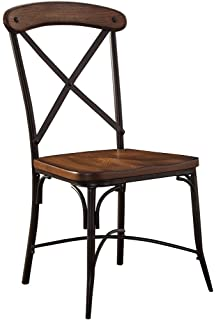 Ashley Furniture Signature Design   Rolena Industrial Dining Room Chair    Crossbar Backs   Set Of