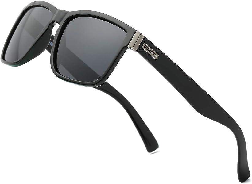 1f040c0f37f DUBERY Polarized Sunglasses Classic 100% UV Protection Reflective Color  Mirror Large Square for Men Women Black