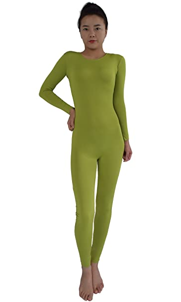 5653ea2c7c8 Ensnovo Adult Lycra Spandex One Piece Unitard Full Body Suit Dance Costume