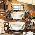 Giftburg 7-Piece Stackable Buffet Caddy
