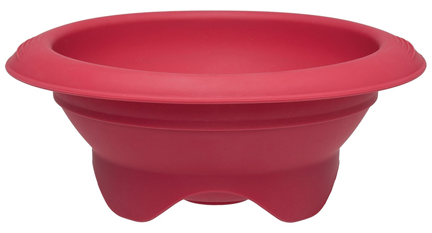 Rose Levy Beranbaum's Baking Bowl Double Boiler, European-Grade Silicone, Red, 1.5-Quarts (6-Cups) Capacity