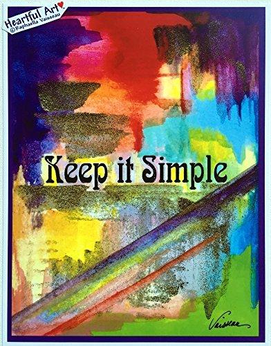 Keep it simple Aa recovery slogan poster - Heartful Art by Raphaella Vaisseau