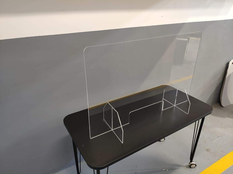 MAMPARA PROTECTORA IRROMPIBLE policarbonato compacto Dim: 100x64cm. material casi irrompible con protección UV: Amazon.es: Salud y cuidado personal