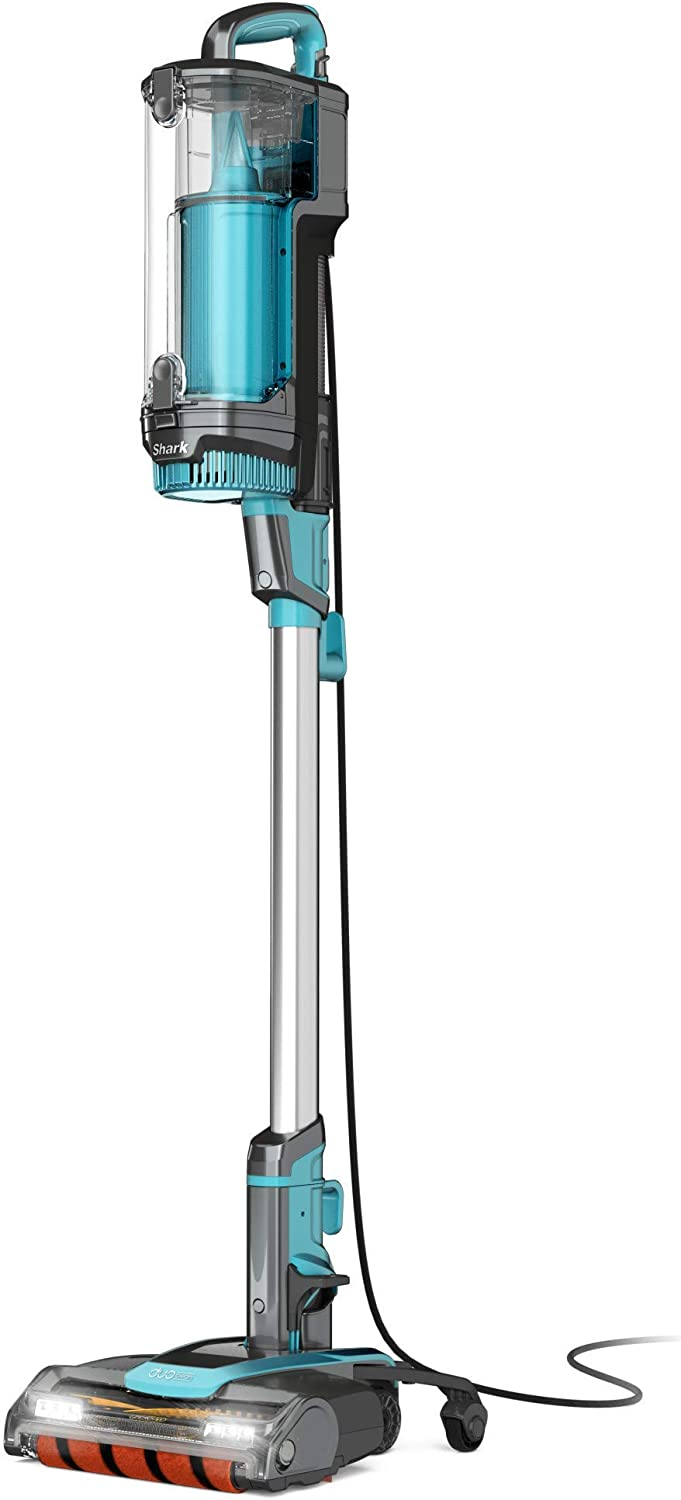 Shark APEX UpLight Lift-Away DuoClean with Self-Cleaning Brushroll Stick Vacuum (LZ601), 0.66 qt, Forest Mist Blue (Renewed)