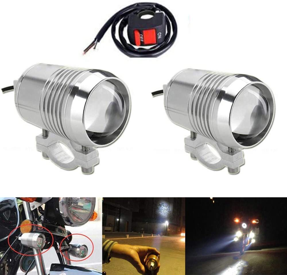 CREE U2 30W LED Spotlight Motorcycle Driving Fog Spot Head Light Lamp Chrome US