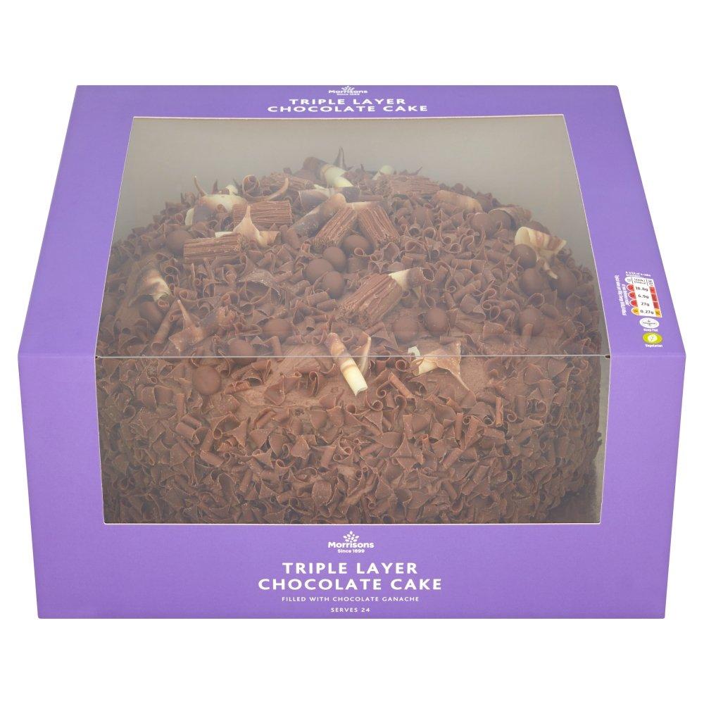 Morrisons Triple Layer Chocolate Cake 1 Cake Amazon Grocery