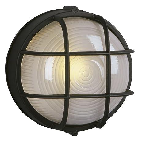 Marine bulkhead outdoor wall light in black wall porch lights marine bulkhead outdoor wall light in black aloadofball Images