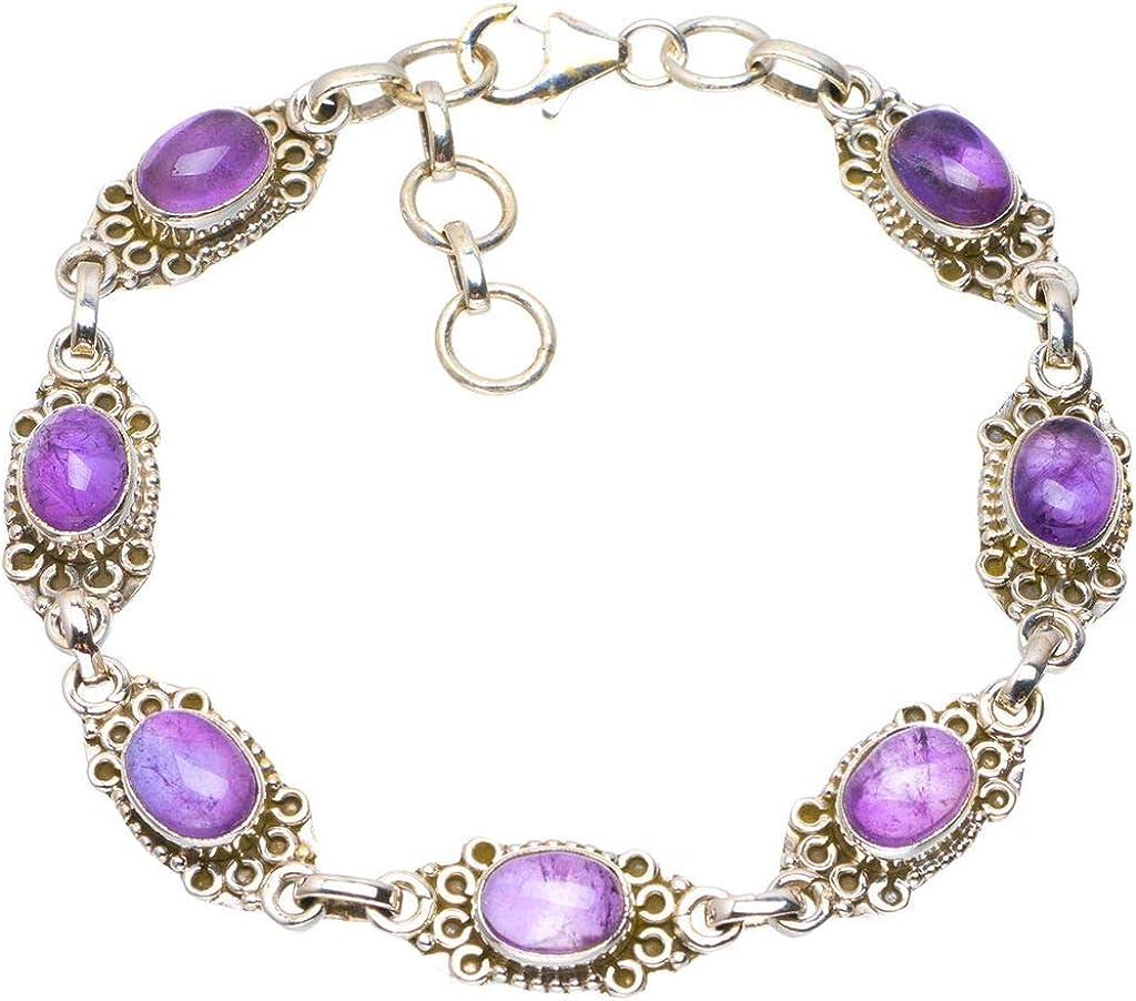 Livraison gratuite 925 Sterling Argent Naturel Violet Amethyst ring Taille US 3-13