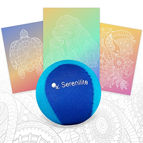 Serenilite Stress Ball & Hand Therapy Gel Squeeze Ball - Great for Hand Exercises and Strengthening - Optimal Stress Relief - Dual Color (Ocean Breeze) by Serenilite (Image #1)