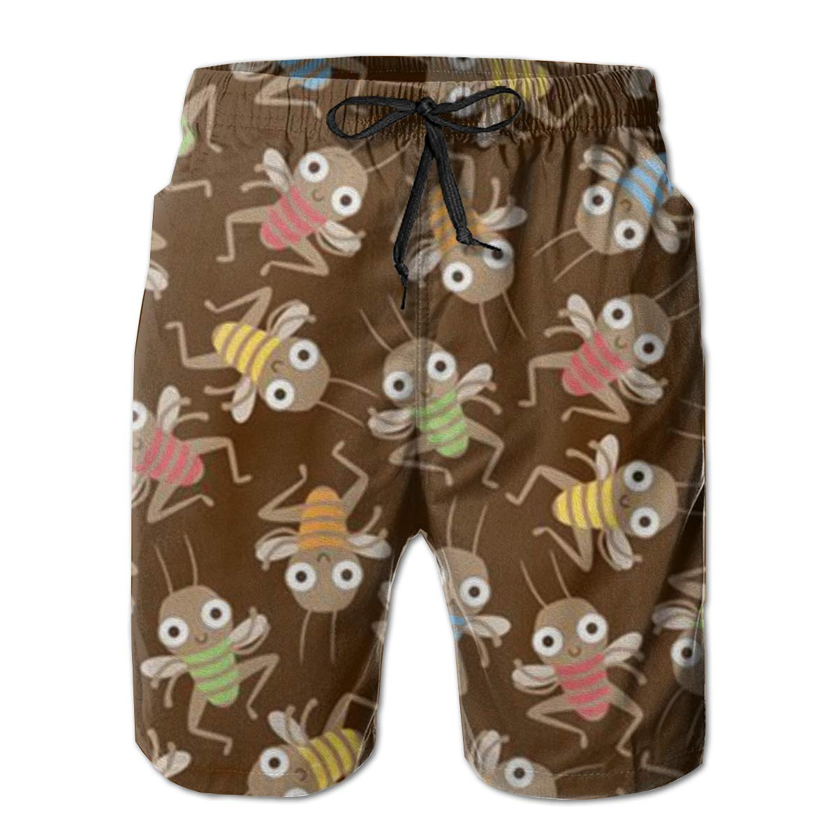 FUNSTYEET Cute Fleas Mens Board Shorts Swim Mesh Lining and Side Pocket