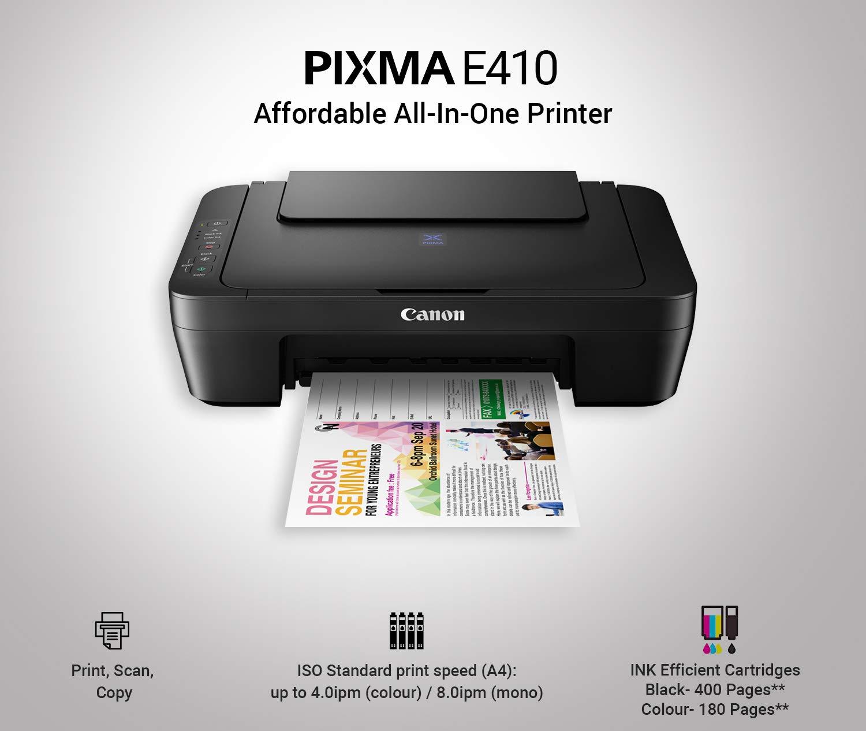 Canon PIXMA E410 Multifuncional Inyección de Tinta 4800 x ...