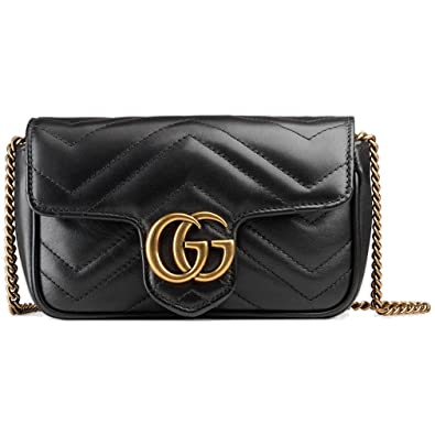 2500b634bf00 Amazon.com: Gucci GG Marmont Matelassé Leather Super Mini Bag Handbag  Article: 476433 DSVRT 1000: Shoes