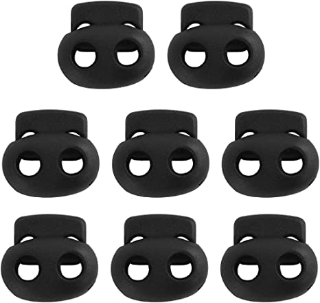 uxcell Plastic Round Toggle Stopper Cord Locks Ends 20 Pcs