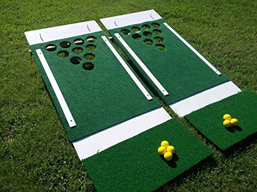 Beer Pong Golf, Portable Backyard, Tailgate, Beach Party, Chip Shot 2-Board Game Set ()