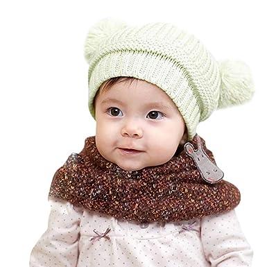ROUNYY - Gorro de Punto para bebé y niña, para Invierno, para ...