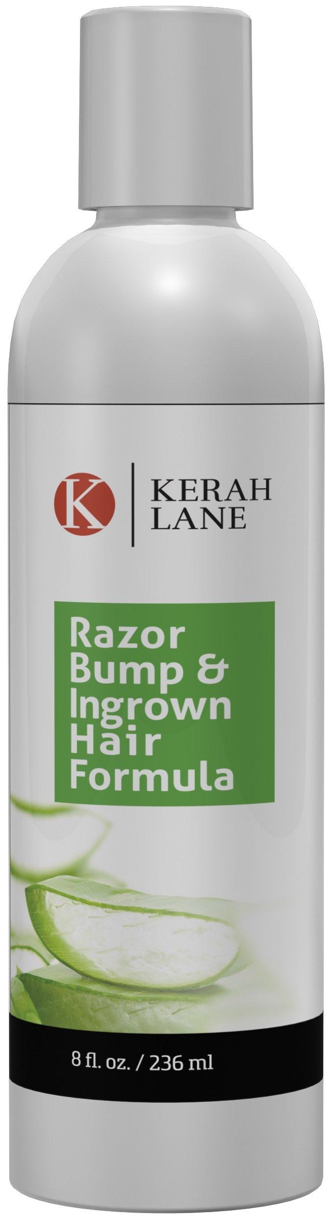 Kerah Lane Razor Bump & Ingrown Hair Natural Formula 8 Oz for Women & Men: Best Serum for Ingrown Hairs, Acne, Razor Bumps, Razor Burn: Use After Shaving, Waxing, Electrolysis & Hair Removal Treatment